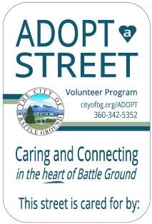 Adopt a Street sign graphic