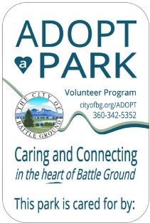 Adopt a Park sign graphic