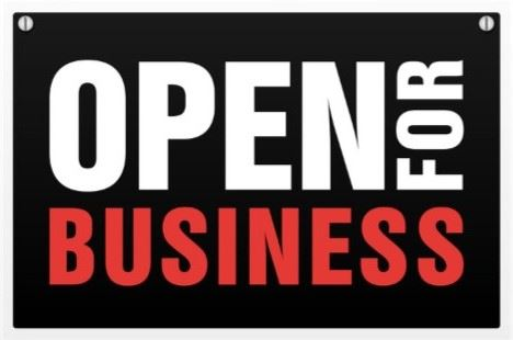Open for Business Graphic