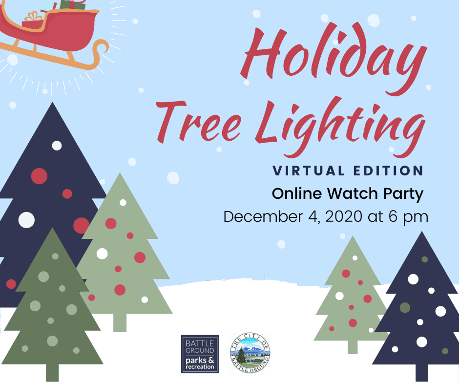 Virtual Holiday Tree Lighting Friday December 4, 2020 at 6 PM