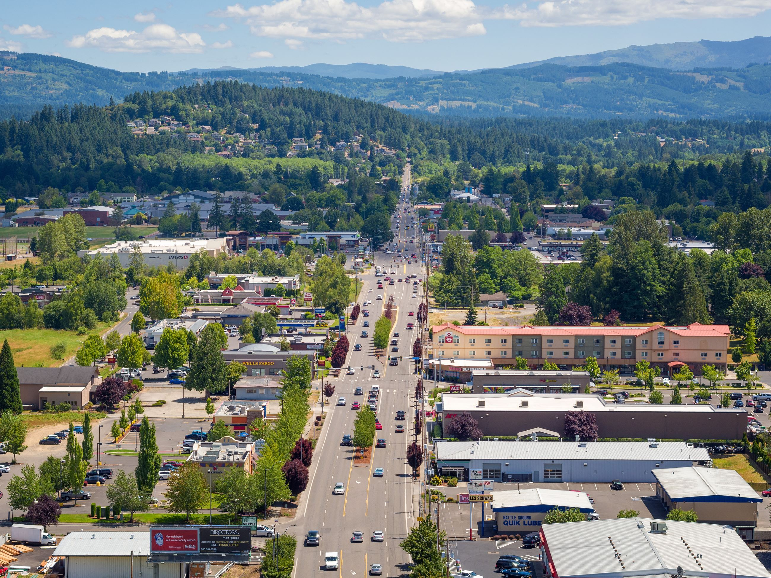 Aerial View of Battle Ground, WA