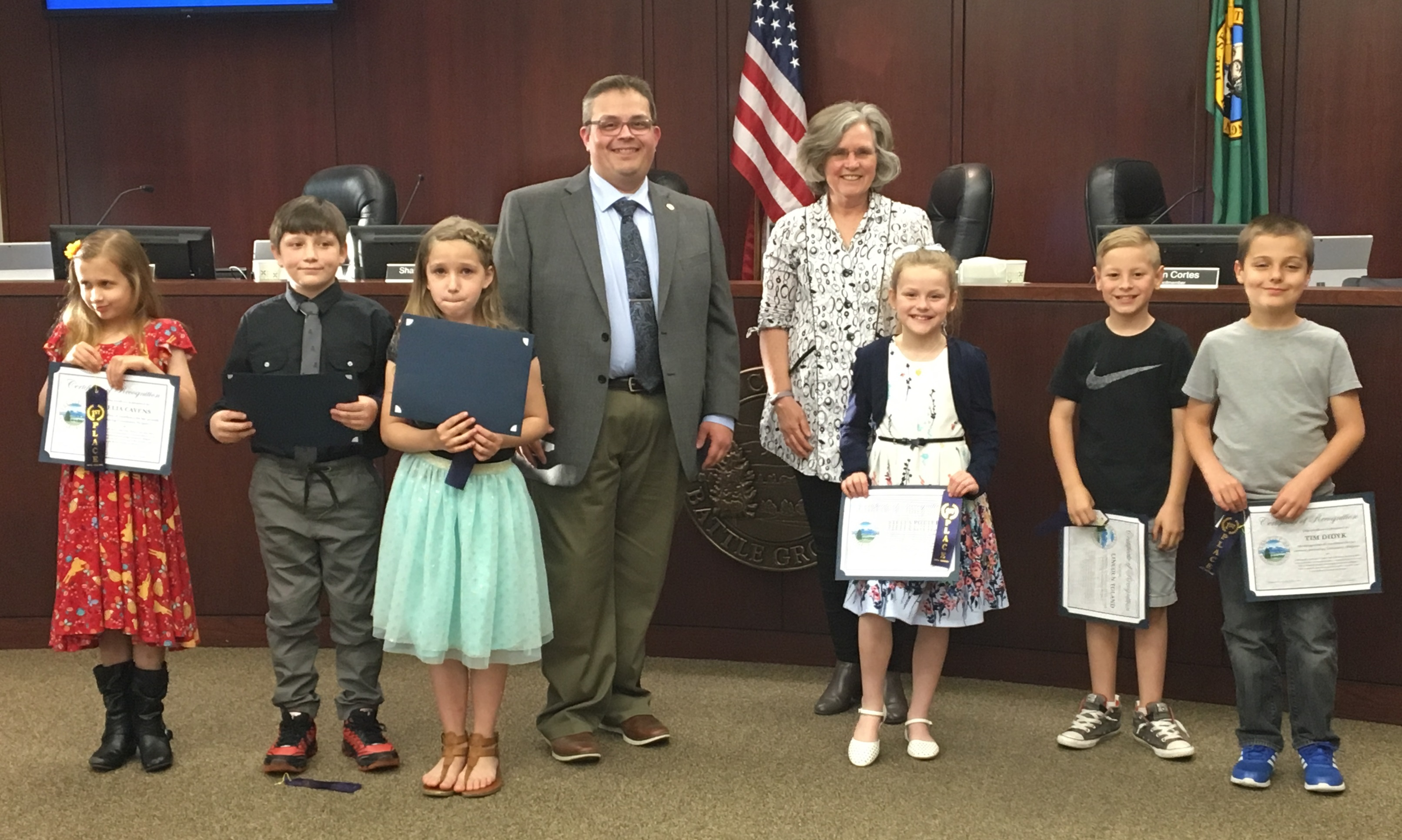 The art of 6 students were selected by the Battle Ground Art Alliance to receive special recognition at the May 7 City Council meeting.