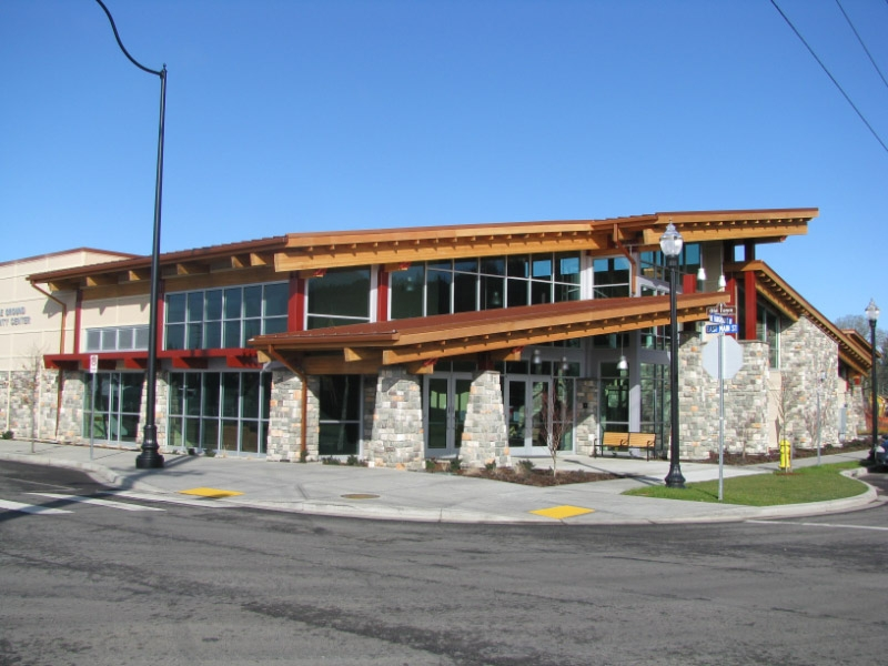 The front of the Battle Ground Community Center