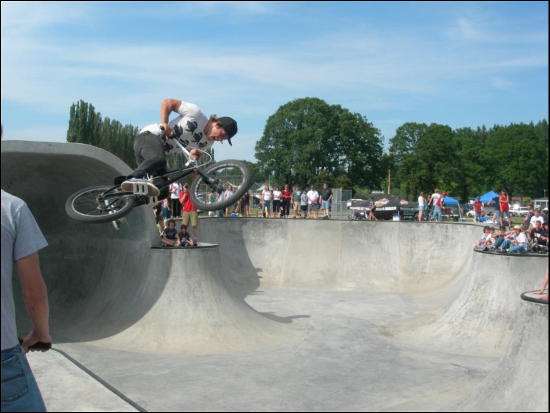 Skate and Bike Park Half-pipe