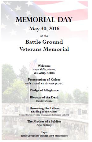 2016 Memorial Day Ceremony